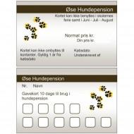 RABATKORT - 10 x hundepension for 1 hund i egen boks NB! Kan IKKE bruges i Skolernes ferier samt juni, juli og august